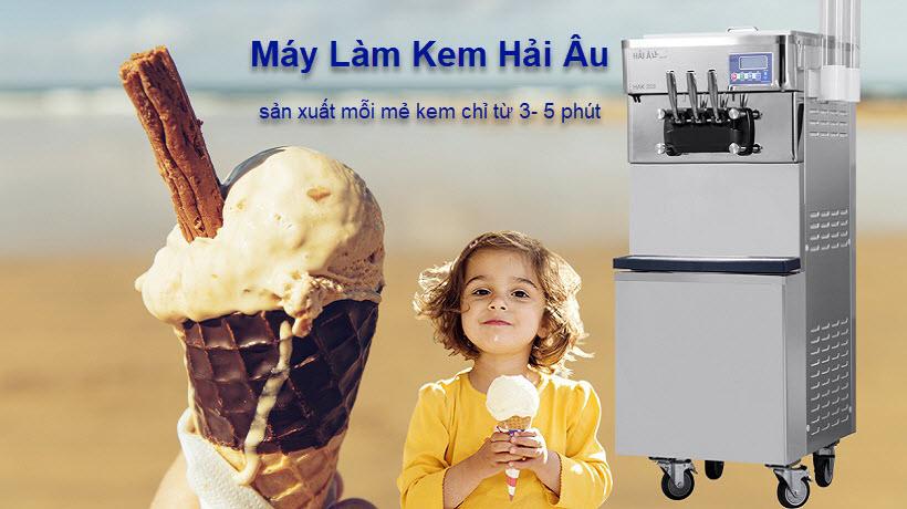 giá máy làm kem hải âu bao nhiêu